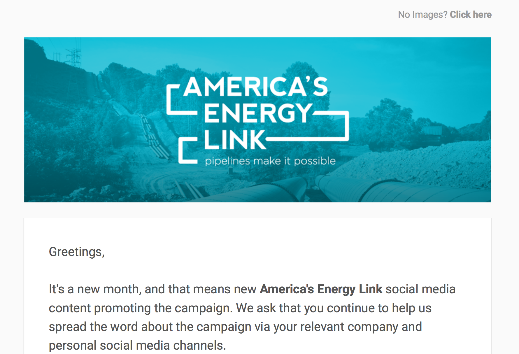 America's Energy Link February '16 Social Media Toolkit