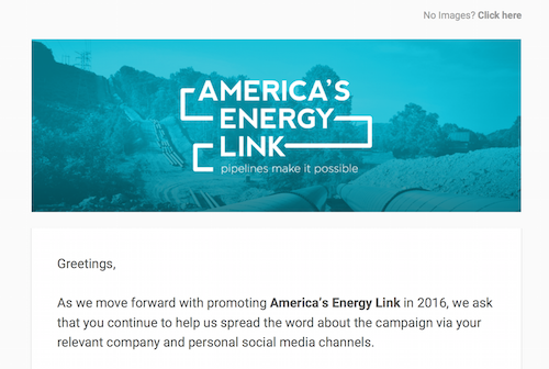 America's Energy Link January '16 Social Media Toolkit