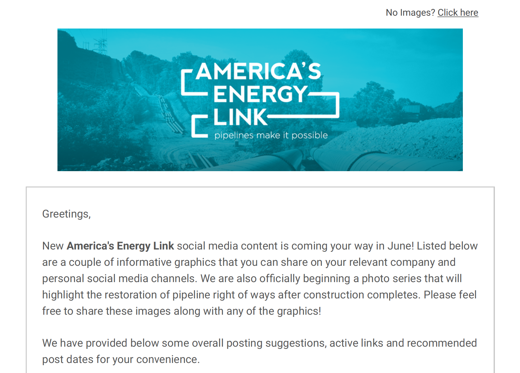 America's Energy Link June '16 Social Media Toolkit